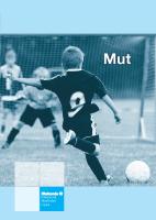 """Cover der Broschüre """"Mut"""" mit einem Jungen, der Fußball spielt"""