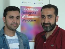 Portrait zwei Flüchtlinge