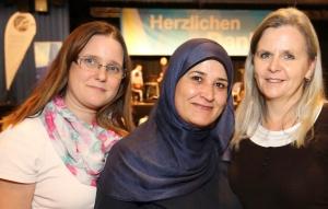 Portrait drei Frauen auf dem Ehrenamtstag