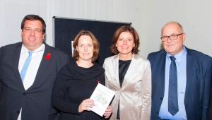 Gruppenbild: Timo Schneider, Silke Irle, Malu Dreyer, Albrecht Bähr