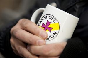 Kaffeebecher Bahnhofsmission