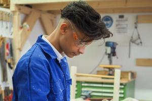 Jugendlicher in Ausbildung beim Jugendwerk Köln