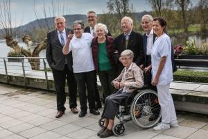 Gruppenfoto mit Minister Laumann