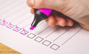 Checkliste für eine Wahl
