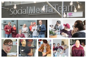 Fotocollage des inklusiven Social Media Teams Hephata