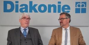 Die Vorstände der Diakonie RWL: Thomas Oelkers (links) und Christian Heine-Göttelmann.