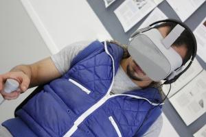 VR-Brille im PIKSL Labor