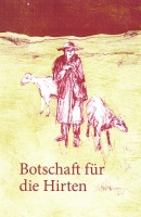 Titelbild des Weihnachtsheftes der Diakonie RWL: Ein Hirte mit zwei Schafen