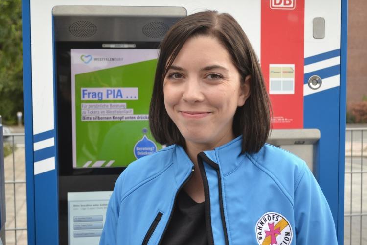 Jovanna Rinsche möchte die Bahnhofsmission Lippe zu einem Begegnungsort machen.