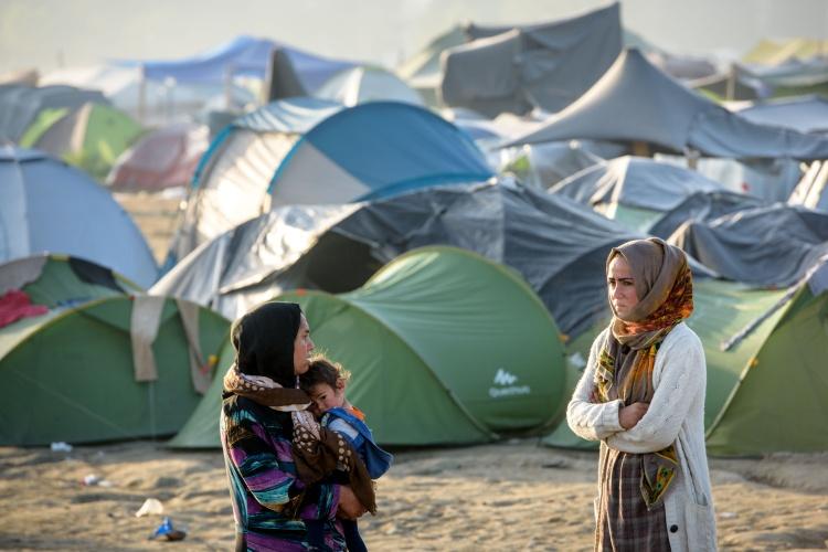 Zeltlager auf Lesbos (Foto Diakonie Katastrophenhilfe - Thomas Lohnes)