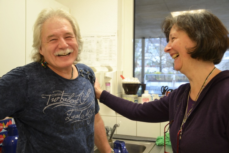 """Rolf Hornig arbeitet im """"zentrum plus"""" Gerresheim."""