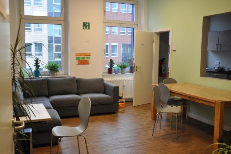 Das Gemeinschaftszimmer in der Einrichtung you@tel.