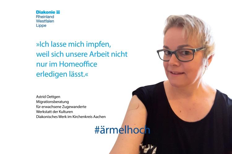 Astrid Oettgen arbeitet bei der Werkstatt der Kulturen Aachen.