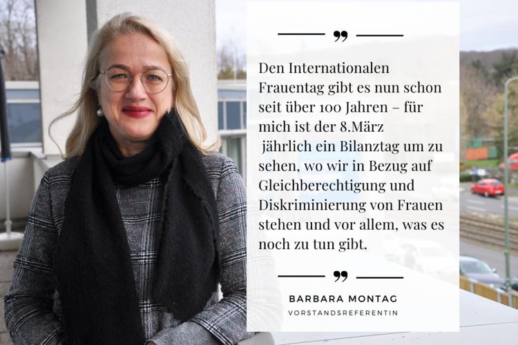 Der Frauentag ist ein Bilanztag, der uns zeigt, was es noch alles zu tun gibt, sagt Diakonie RWL-Mitarbeiterin Barbara Montag.