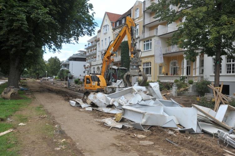 Trümmer im vom Hochwasser zerstörten Bad Neuenahr-Ahrweiler