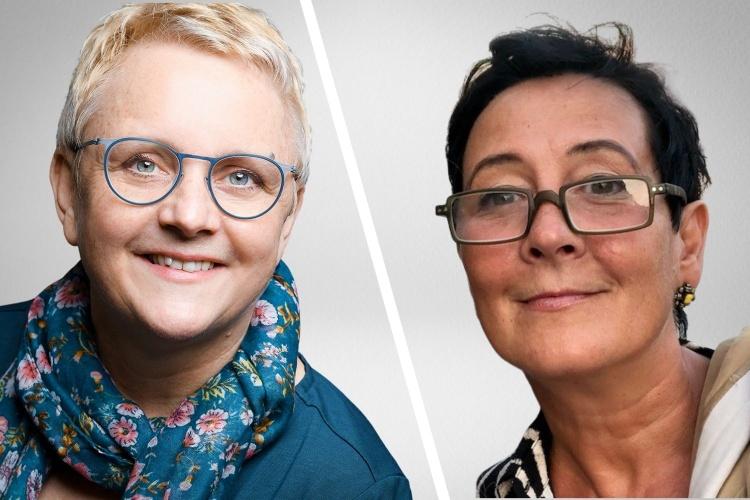 Birgit Hirsch-Palepu, Geschäftsführerin der Diakonie Mülheim, und Nicola Küppers, Schulleiterin der Grundschule am Dichterviertel in Mülheim