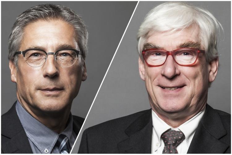 Thomas Oelkers (juristischer Vorstand, rechts im Bild) und Jens Rautenberg (Vorstandsreferent).