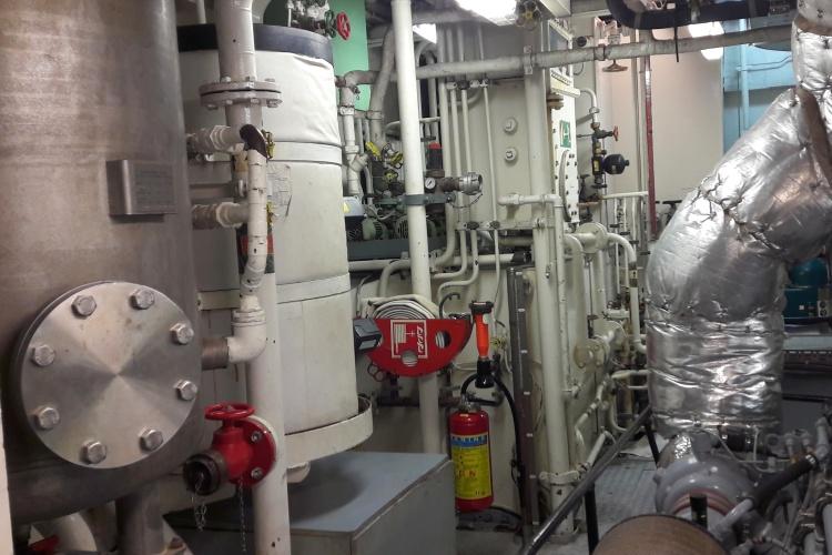 Maschinenraum des Seenotrettungsschiffes United4Rescue
