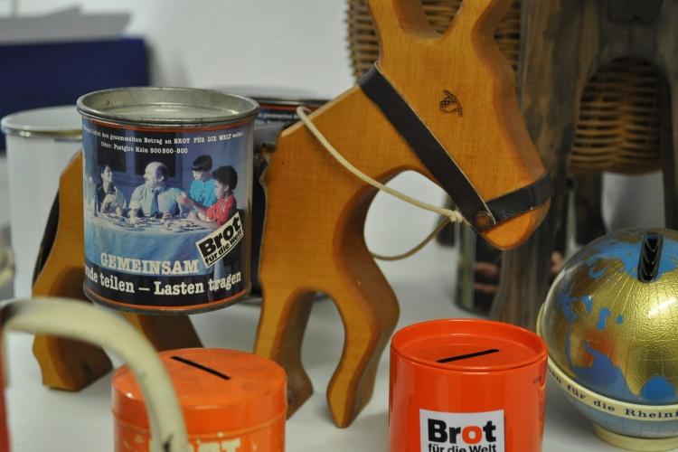 Esel-Sammeldose von Diakonie RWL-Fundraiser Ulrich Christenn
