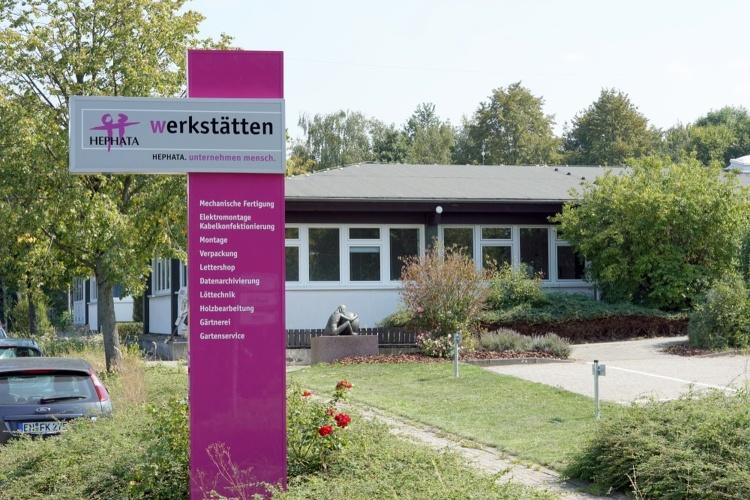 Werkstatt der Stiftung Hephata von aussen (Foto: Julia Pröpper)