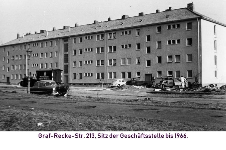 Graf-Recke-Str. 213, Sitz der alten Geschäftsstelle bis 1966