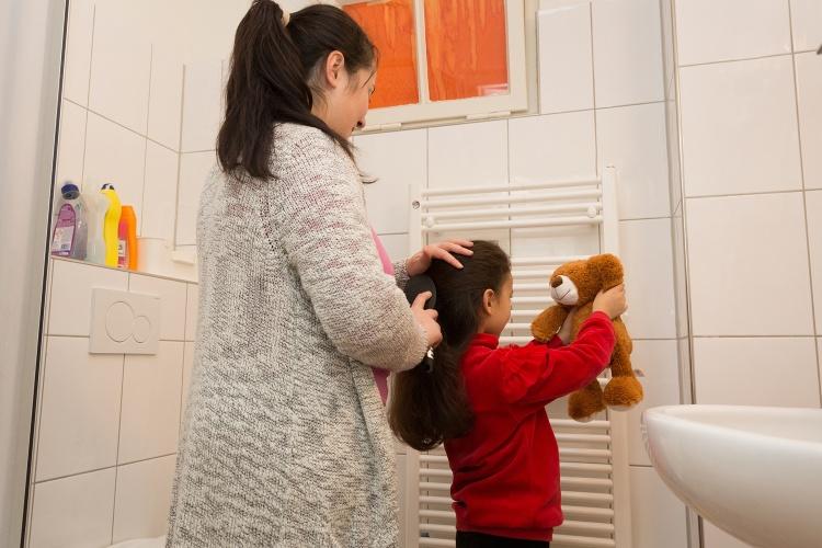 """Alltag: In der """"Kleinen Ariadne"""" können Mütter und Kinder zur Ruhe kommen. (Foto: Ariadne/Diakonie Düsseldorf)"""