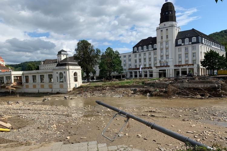 Steigenberger Hotel in Bad Neuenahr nach Flutkatastrophe (Foto: Iven/ekir)