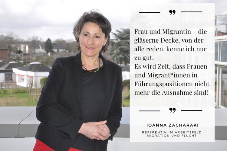 """Lasst uns gegen die """"gläserne Decke"""" angehen, fordert Diakonie RWL-Mitarbeiterin Ioanna Zacharaki."""