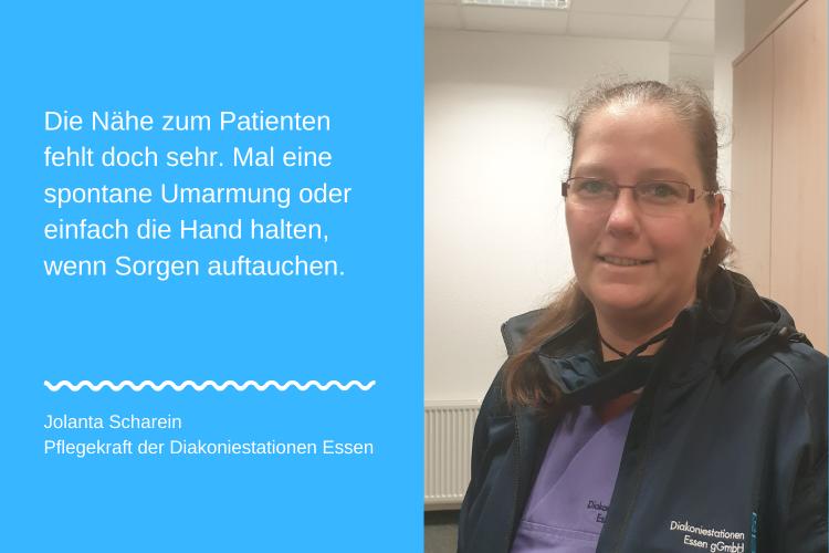 Jolanta Scharein, Pflegekraft der Diakoniestationen Essen