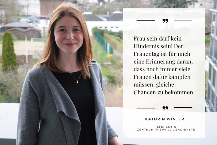 Frau sein darf kein Hindernis sein, betont Diakonie RWL-Mitarbeiterin Kathrin Winter.