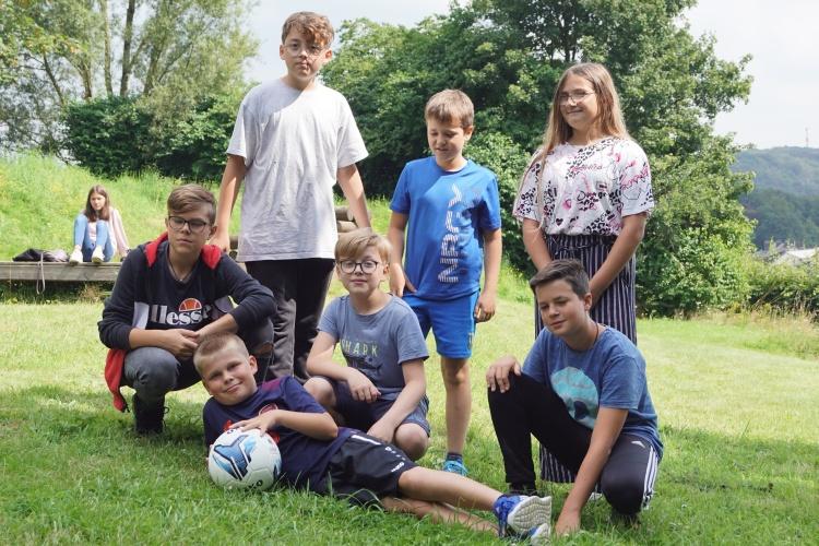 Fussballteam auf der Freizeit für Kinder aus Hochwassergebieten der Diakonie RWL