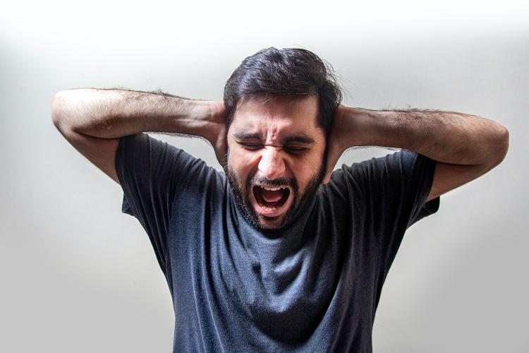 Wütender Mann Symbolfoto