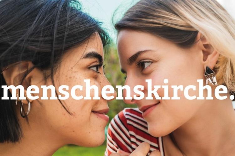 Verliebte Mädchen - Menschenskirche-Kampagne der Diakonie Dinslaken (Foto: Mego-studio / photocase.de )