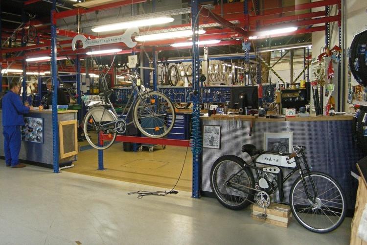 Fahrradwerkstatt der Beschäftigungsgesellschaft NEUE ARBEIT der Diakonie Essen