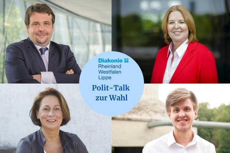 Fotocollage mit NRW-Politikern zum Diakonie RWL-Polittalk (Collage: Claudia Broszat)