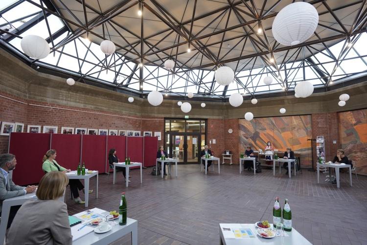 Pressegespräch im Stadtteilzentrum Ernst-Lange-Haus (Foto: Michael Englert/ Diakonie Deutschland)