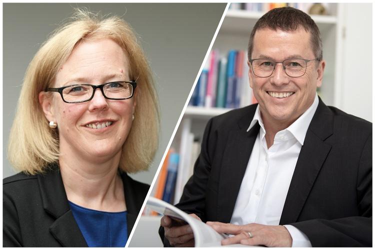 Sandra Waters, Geschäftsführerin Bethel.regional und Prof. Dr. Ingmar Steinhart, Vorstand Bethel