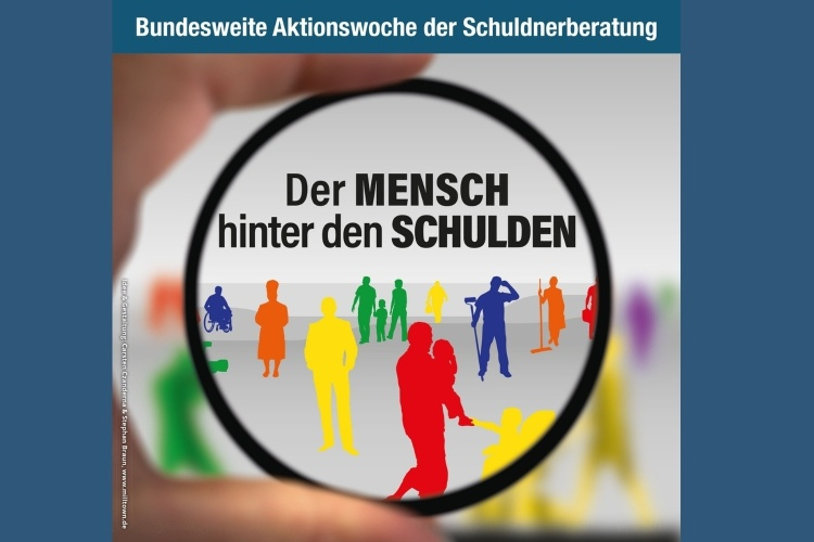 Plakat der Aktionswoche Schuldnerberatung 2021