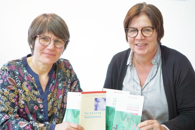 Kerstin Carbow und Gabriele Borchers von der Schwangerenberatungsstelle Düren in der Diakonie RWL