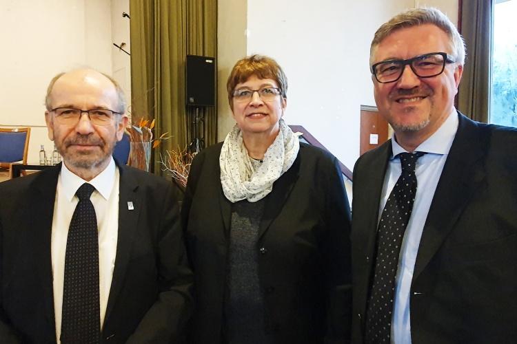 Sozialpolitischer Aschermittwoch der Kirchen in Essen mit Präses Manfred Rekowski, Helga Siemens-Weibring und Christian Heine-Göttelmann von der Diakonie RWL