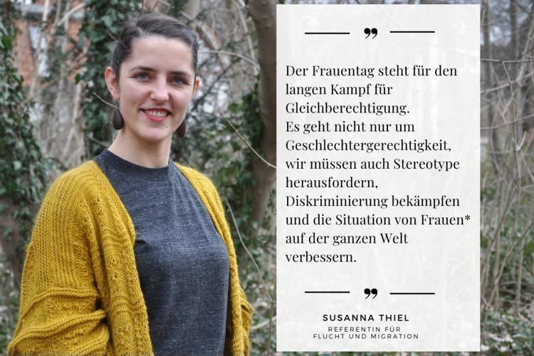 Die Situation von Frauen auf der ganzen Welt muss sich verbessern, sagt Diakonie RWL-Mitarbeiterin Susanna Thiel.