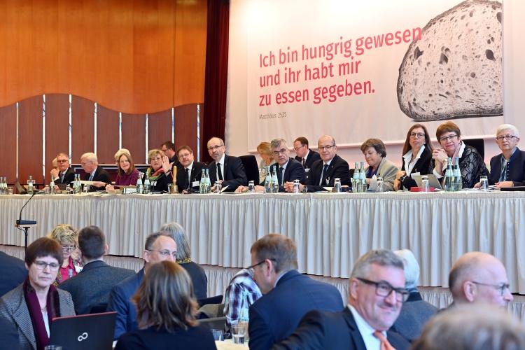 Plenarssitzung während der Landessynode der Evangelischen Kirche im Rheinland.