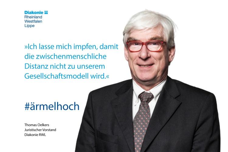 Impfstatement von Diakonie RWL-Vorstand Thomas Oelkers
