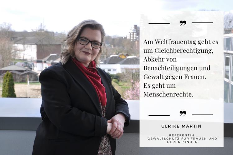 Am Weltfrauentag geht es um Menschenrechte, betont Diakonie RWL-Mitarbeiterin Ulrike Martin.